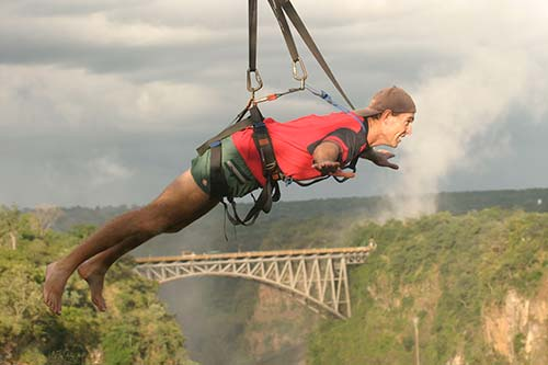 Thrill Seeking at Victoria Falls