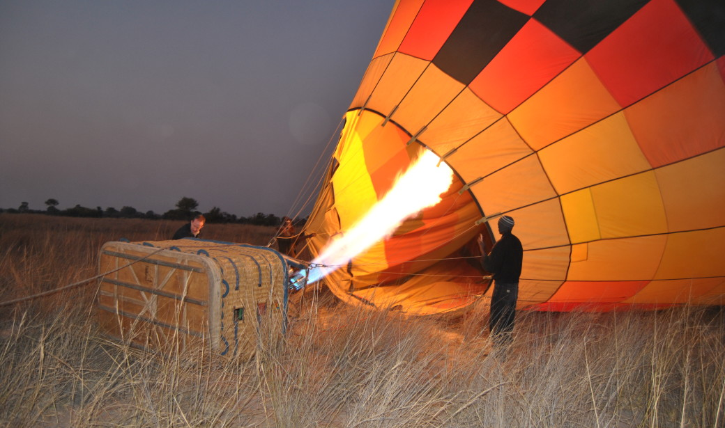 Okavango Delta hot air ballon