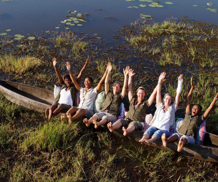 mokoro, safari, okavango delta, botswana