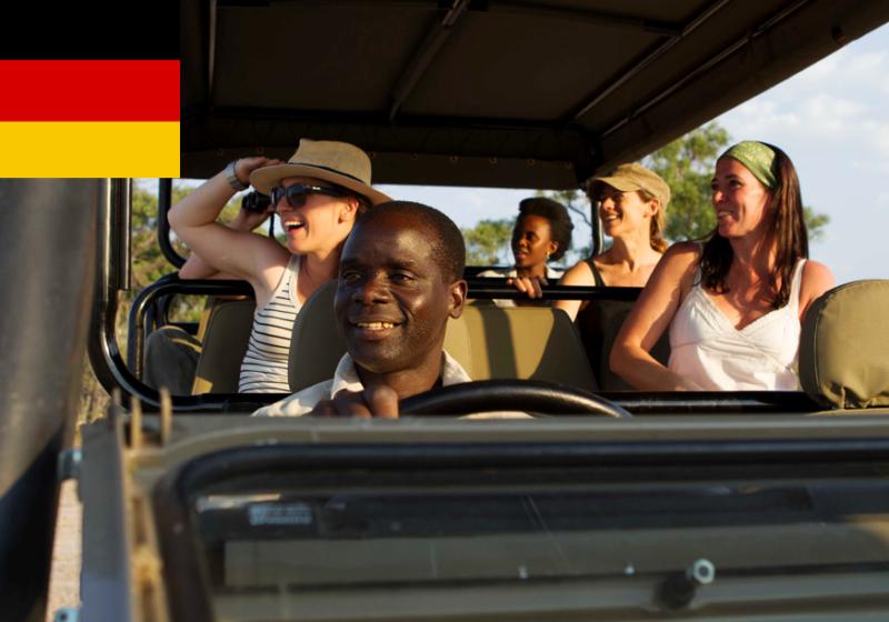 pischfahrt botswana game drive german safari
